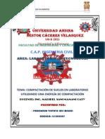 pavimento informe 1 COMPACTACIÓN DE SUELOS EN LABORATORIO UTILIZANDO UNA ENERGÍA DE COMPACTACIÓN