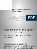The Philippine Senates Exclusive Genetic Make Up