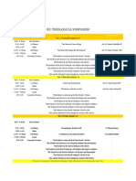 Schedule for the International Eucharistic Congress, Cebu 2016
