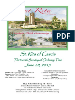Saint Rita Parish Bulletin 6/28/2015