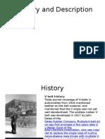 History and Description of V BELTS