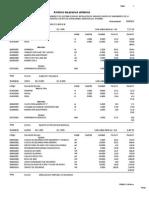 Analisis Sub Presupuesto Varios agua