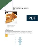Focaccia de Tomate y Queso Parmesano