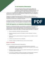 Perfil de La Carrera de Industrias Alimentarias