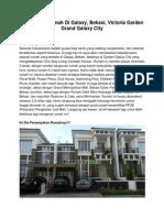 Iklan Dijual Rumah Di Galaxy, Bekasi, Victoria Garden Grand Galaxy City