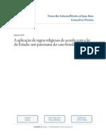 A Aplicação de Regras Religiosas de Acordo Com a Lei Do Estado