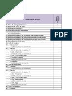 Check List Dossier - TELRAD