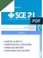 Presentación SGE 21 en Lima