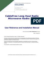 CableFree LHR - Long Haul Radio Manual 4001 Rev F2