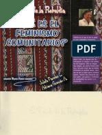 Julieta Paredes, Adriana Guzman - El tejido de la Rebeldia. Qué es el feminismo comunitario.pdf