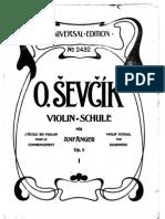 Sevcik - Violin School for Beginners Op6