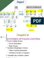 Chapitre3 Optique_2013 (Systèmes Centrés)