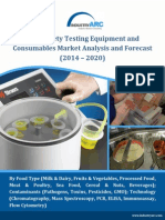 Food Safety Testing Equipment and Consumables