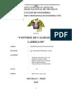 ENSAYO DE CONTROL DE CALIDAD DE LADRILLOS