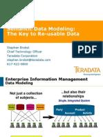 1030 Stephen Brobst Semantic Data Modeling
