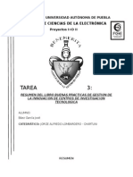 Resumen Del Libro Buenas Practicas de Gestion de La Innovacion de Centros de Investigacion Tecnologica
