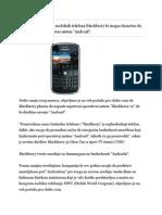 Blackberry Na Guglov Operativni Sistem