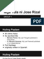 Mga Tula Ni Jose Rizal