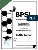 Bpsl Blok 13 Bedah Mulut Skill Lab 2014 Booklet