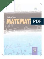 Buku Pegangan Guru Matematika SMP Kelas 9 Kurikulum 2013