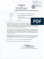 Division Memo on Lecture Demonstration on First Aid