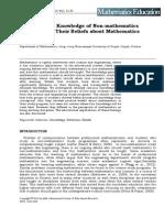 Mathematical Knowledge of Non-mathematics
