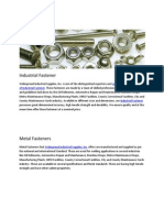 Industrial Fastener Supplier in USA