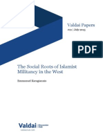 The Social Roots of Islamist Militancy in the West