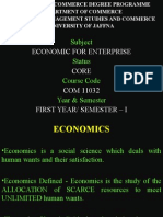 SCOPE OF ECONOMICS