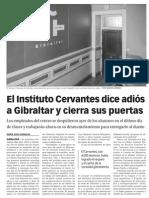 150701 La Verdad CG- El Instituto Cervantes Dice Adiós a Gibraltar y Cierra Sus Puertas p.8