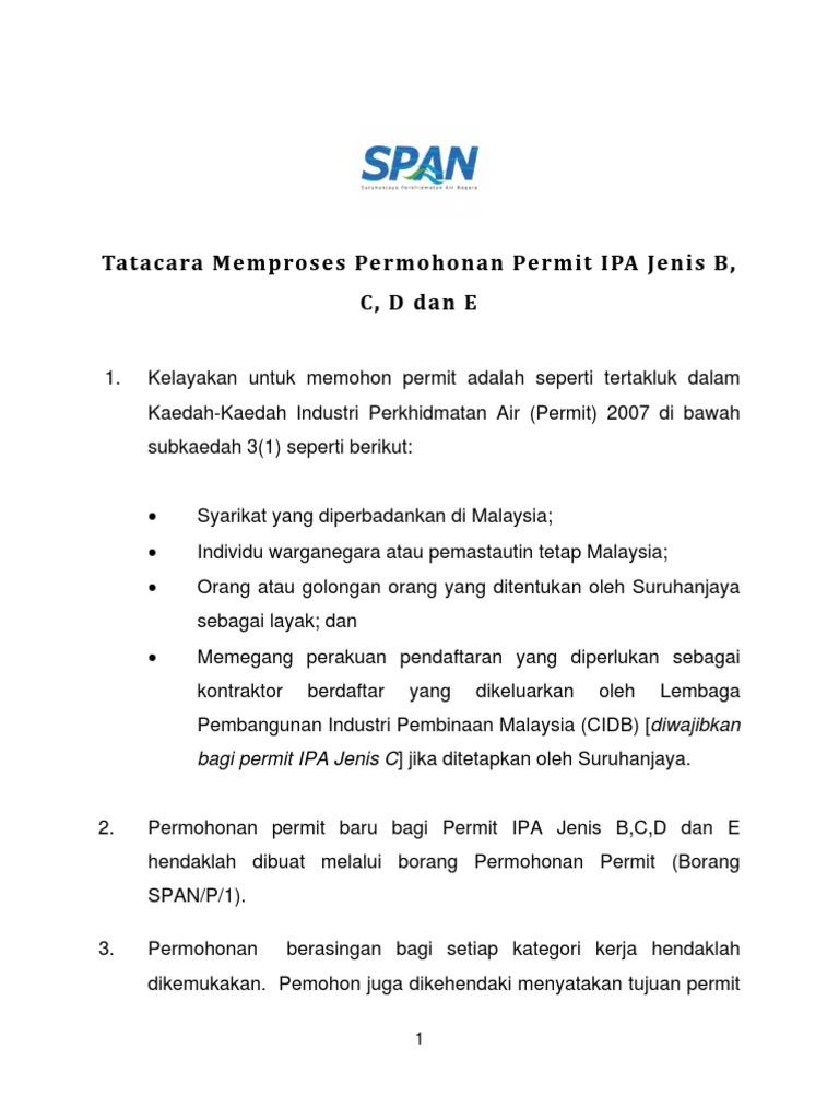 Procedure New Permit