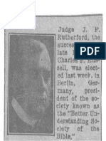1917 Article Rutherford Germany