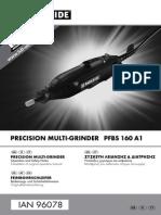Parkside PFBS 160 A1 Συσκευή Λείανσης Και Διάτρησης_manual