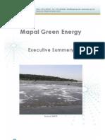 Mapal Excutive Summery - Mapal Green Energy