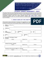 B School Questionnaire 2015