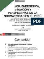 Eficiencia Energétic, Normatividad en El Perú