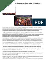 Peresmian Jalan Tol Semarang Solo Seksi II Ungaran Bawen