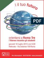 20150424_Locandina Orientarsi a Roma Tre 2015