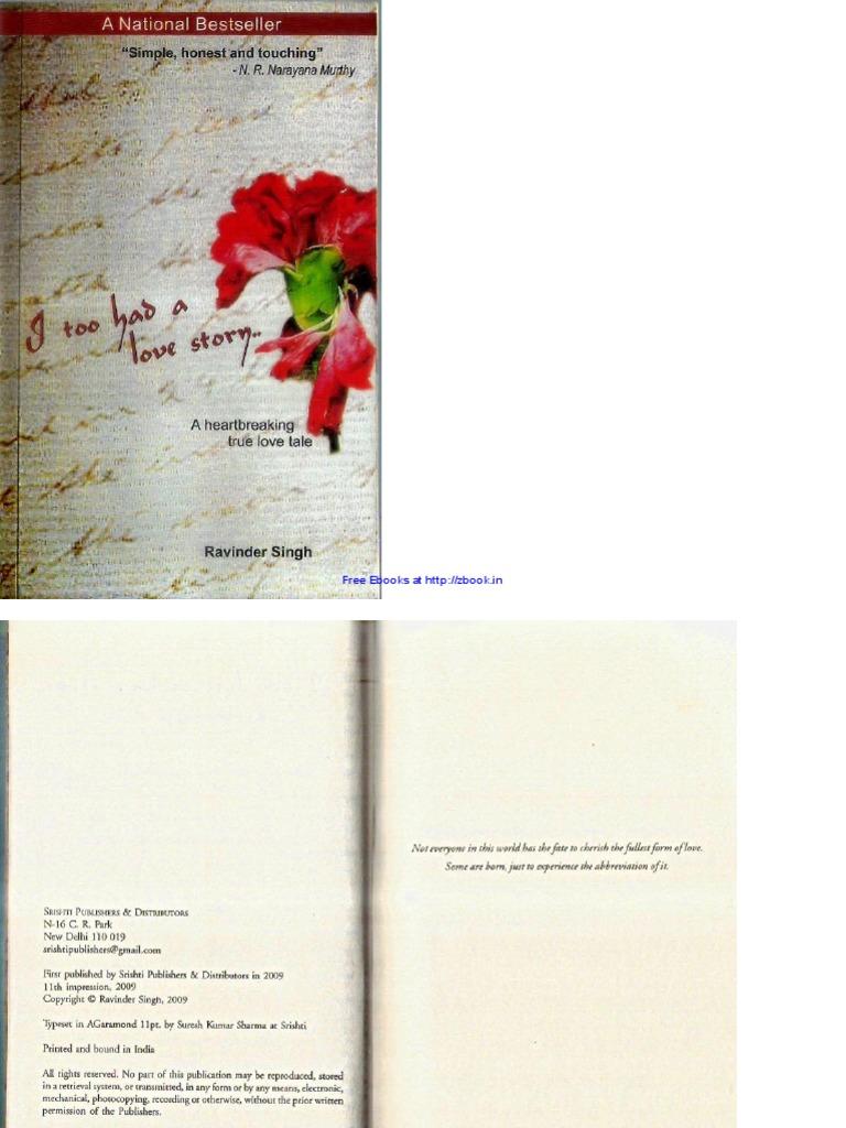Tell Me A Story Ravinder Singh Ebook
