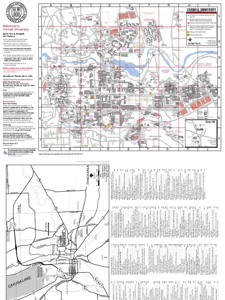 Cornell Campus Map 072213   Cornell University   Further ...