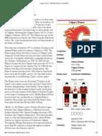 Calgary Flames - Wikipedia, The Free Encyclopedia