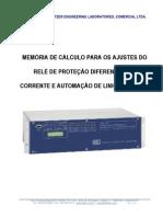 Memória de Cálculo para o Roteiro de Ajustes do Relé Diferencial SEL-311L.pdf