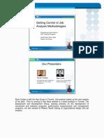 Getting Control of Job Analysis Method DCreelman