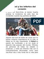 El Fútbol y Los Infartos Del Corazón
