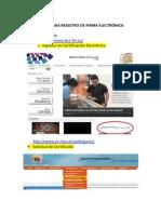 Pasos Para Registrar Firma Electronica 2014
