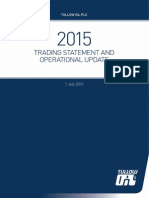 Tullow Oil Trading Statement July 2015