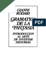 Gramatica de La Fantasia. Gianni Rodari