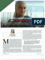 Juego de Tronos. Abril 2015. Revista Plaza