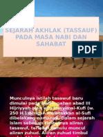 SEJARAH AKHLAK (TASAWUF)