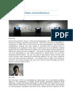 video installations magazine